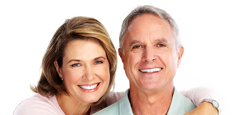 Happy Old Couple with their New Dental Implants